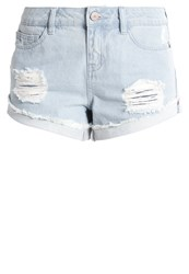 Noisy May Nmfran Denim Shorts Light Blue Denim Light Blue Denim