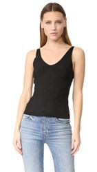 Alexander Wang Rib Knit Cropped Tank Black