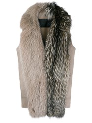 Blancha Longline Gilet Nude And Neutrals