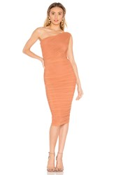 Nookie Inspire One Shoulder Midi Dress Burnt Orange