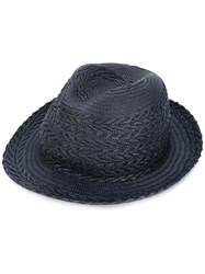 Paul Smith Woven Hat Men Straw M Blue