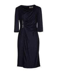 Nina Knee Length Dresses Dark Blue