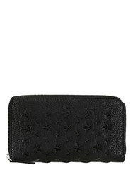 Jimmy Choo Stars Leather Zip Around Wallet