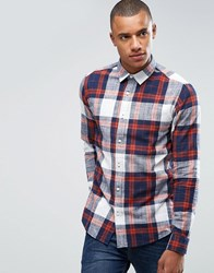 Only And Sons Shirt In Slim Fit Cotton Check Robus Tea Red
