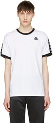 Kappa Ssense Exclusive White And Black Authentic Vale T Shirt