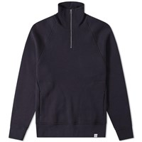 Norse Projects Alfred French Terry 1 4 Zip Sweat Blue