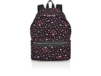 Saint Laurent Men's Star Print Classic Backpack Black
