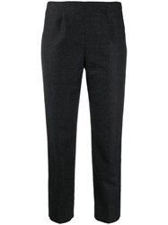 Piazza Sempione Cropped Slim Fit Trousers Grey