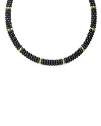 Lagos Black Caviar And 18K Gold Necklace