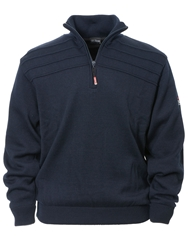 Oscar Jacobson Orson Lined Half Zip Jumper Navy