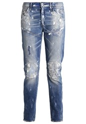 G Star Gstar 5620 3D Low Boyfriend Jeans Tapered Fit Wils Stretch Denim Blue Denim