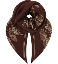 The Kooples Floral Modal And Wool Blend Scarf Ora08