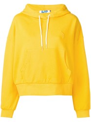 Sjyp Cropped Hoodie Yellow