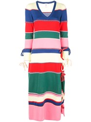 Rosie Assoulin Striped Knitted Dress Multicolour