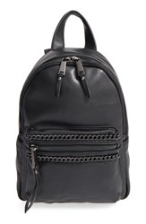 French Connection 'Mini Alexa' Faux Leather Backpack Black