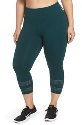 a53025ca1c12f1 Zella Plus Size Women's Twin High Waist Crop Leggings Green Ponderosa