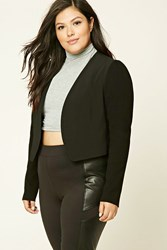 Forever 21 Plus Size Open Front Blazer Black