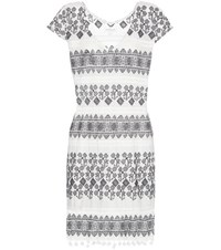 Velvet Yandel Embroidered Cotton Dress White