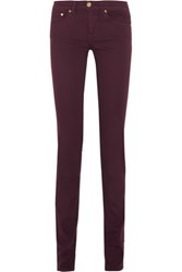 Tory Burch Ivy High Rise Skinny Jeans Burgundy
