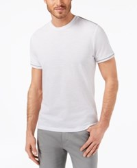 Ryan Seacrest Distinction Men's Slim Fit Heathered T Shirt Created For Macy's White
