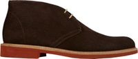 Barneys New York Suede Plain Toe Chukka Boots Brown