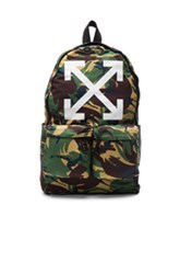 Off White Arrows Backpack In Green Abstract Green Abstract