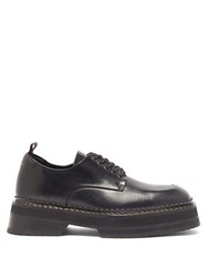 Eytys Phoenix Square Toe Lace Up Shoes Black