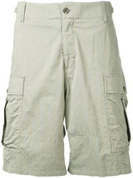 Undercover Faint Striped Cargo Shorts Green