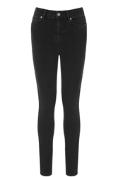Oasis Lily High Waisted Ankle Grazer Jeans Black