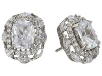 Nina Dries Earrings Palladium White Cz Earring Silver