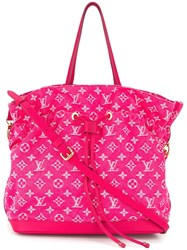 Louis Vuitton Vintage Noeful Two Way Tote Pink