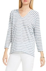 Vince Camuto Women's Two By Sheer Stripe Knit Top