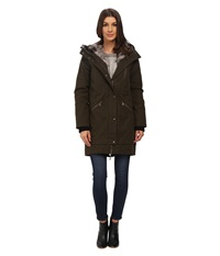 Vince Camuto Parka With Faux Fur Lined Hood J8851 Dark Olive Women's Coat