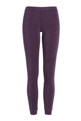 Missoni Leggings With Metallic Thread Purple
