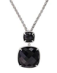 Effy Sterling Silver And Onyx Drop Pendant Necklace Black