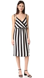 Marc Jacobs Stripe Crossover Cami Dress Black Parchment