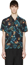 Phenomenon Black Aloha Print Shirt