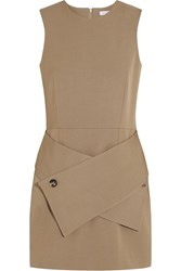 J.W.Anderson Wool And Cotton Blend Twill Mini Dress Brown