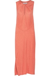 10 Crosby By Derek Lam Stretch Jersey Midi Dress Orange