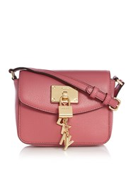 Dkny Elissa Small Flap Over Cross Body Bag Pink