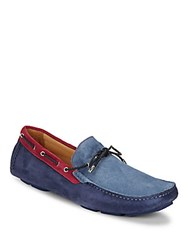 Bugatchi Suede Slip On Driver Shoes Indaco