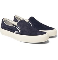 Tom Ford Cambridge Suede Slip On Sneakers Navy