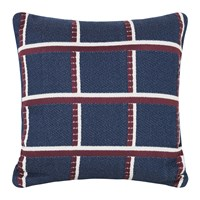 Ferm Living Checked Salon Cushion 40X40cm Blue