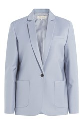 Paul And Joe Linen Blazer Blue