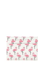 Forever 21 Flamingo Card Slot Coin Purse Pink White