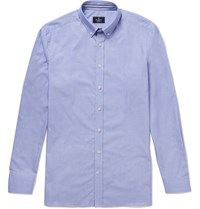 Hackett London Button Down Collar Cotton Shirt Blue