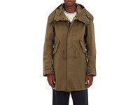 Ten C Men's Hooded Zip Front Parka Dark Green