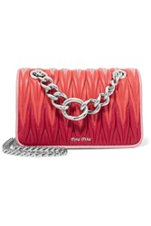 Miu Miu Club Matelasse Leather Shoulder Bag Pink