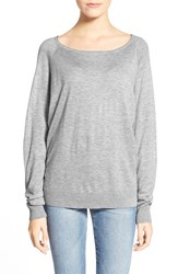 Women's Splendid Scoop Neck Pullover Sweater Light Heat