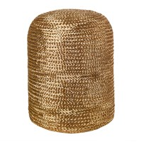 Pols Potten Woven Pill Stool Gold